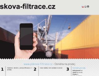 piskova-filtrace.cz screenshot