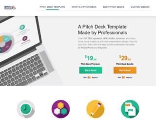 pitchdeck.improvepresentation.com screenshot