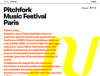 pitchforkmusicfestival.fr screenshot