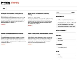 pitchingvelocity.net screenshot