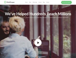 pitchproper.com screenshot