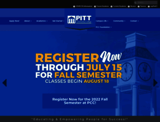 pittcc.edu screenshot