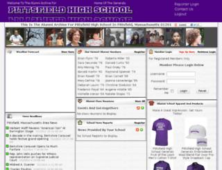 pittsfieldalumni.com screenshot