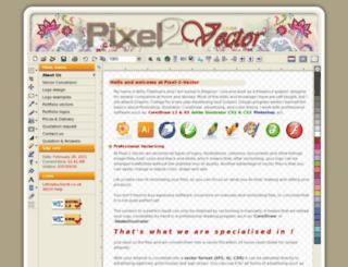 pixel2vector.co.uk screenshot
