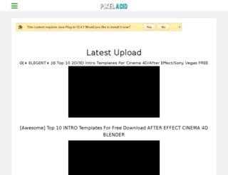 pixelacid.com screenshot