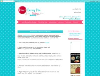pixelberrypiedesigns.blogspot.com screenshot