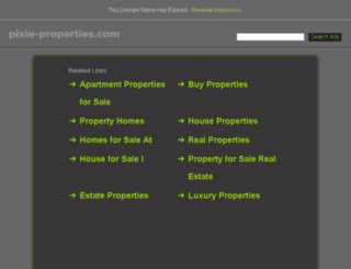 pixie-properties.com screenshot