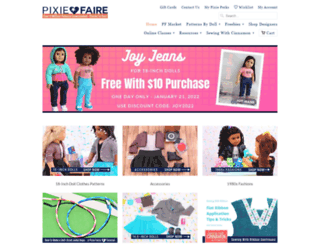 pixiefaire.myshopify.com screenshot