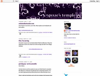 pixiestemple.blogspot.com screenshot