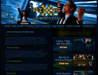 pixiswebdesign.com screenshot