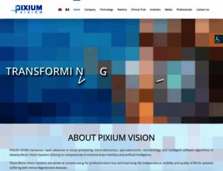 pixium-vision.com screenshot