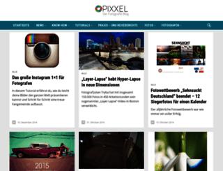 pixxel-blog.de screenshot