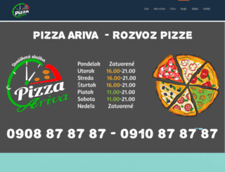 pizza-ariva.sk screenshot