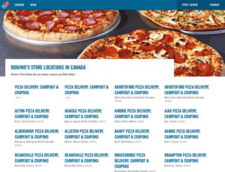 pizza.dominos.ca screenshot