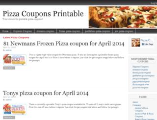 pizzacouponsprintable.com screenshot