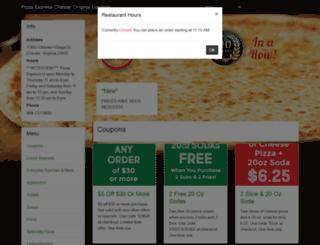 pizzaexpress.click4ameal.net screenshot