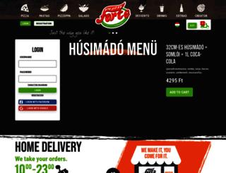pizzaforte.hu screenshot
