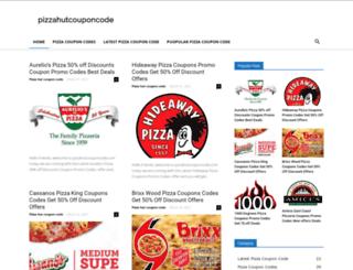 pizzahutcouponcode.com screenshot