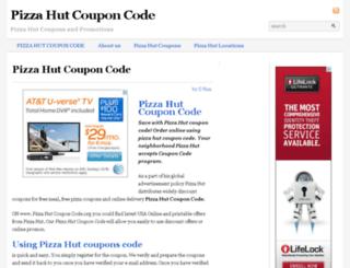 pizzahutcouponcode.org screenshot