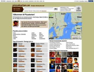 pizzakartan.se screenshot