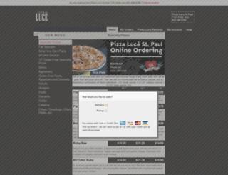 pizzaluce5.foodtecsolutions.com screenshot