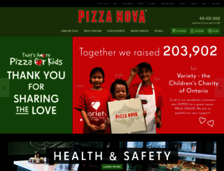 pizzanova.com screenshot