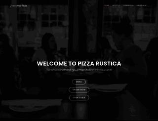 pizzarustica.ca screenshot