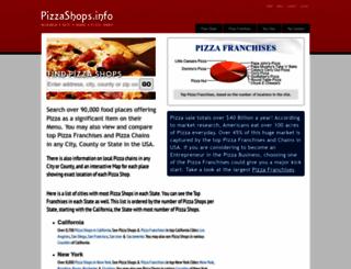 pizzashops.info screenshot