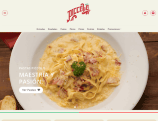 pizzaspiccolo.com.co screenshot