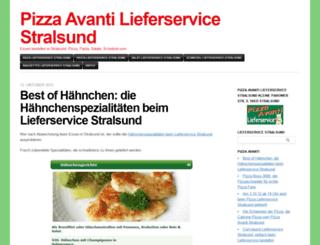 pizzastralsund.wordpress.com screenshot