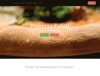 pizzeriafriuli.nl screenshot