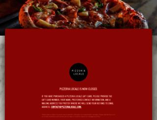 pizzerialocale.com screenshot