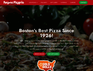 pizzeriaregina.com screenshot
