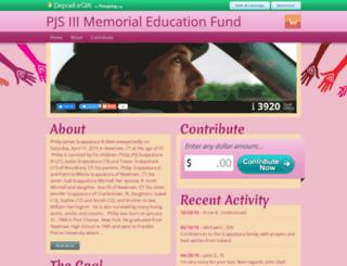 pjsiiimemorialeducationfund.mydagsite.com screenshot