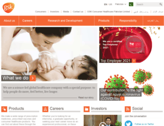 pk.gsk.com screenshot