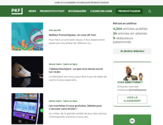 pkfoot.com screenshot