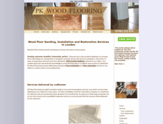 pkwoodflooring.co.uk screenshot