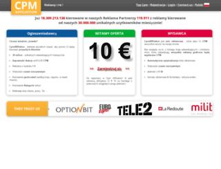 pl.cpmaffiliation.com screenshot