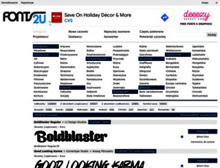 pl.fonts2u.com screenshot