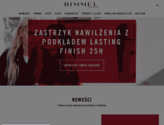 pl.rimmellondon.com screenshot