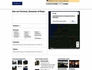 plaats.nl screenshot