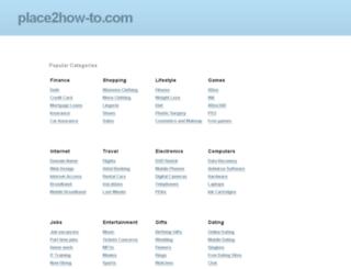 place2how-to.com screenshot
