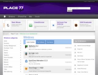 place77.com screenshot