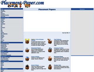 placement-paper.com screenshot