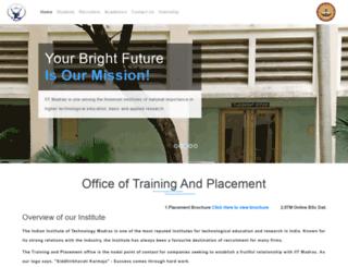 placement.iitm.ac.in screenshot