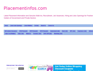 placementinfos.com screenshot