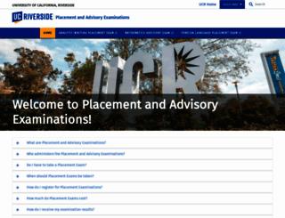 placementtest.ucr.edu screenshot