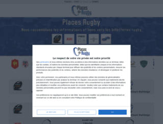 places-de-rugby.com screenshot