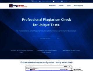 plagaware.com screenshot