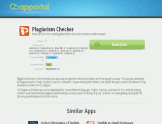 plagiarism-checker.apportal.co screenshot